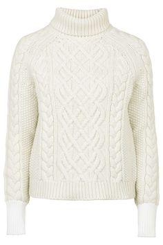 Topshop Keswick Chunky Polo Knit Sweater by Unique, $330; topshop.com   - ELLE.com