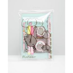 Pusheen Stationery Set (205 ARS) ❤ liked on Polyvore featuring home, home decor, stationery and multi