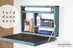 Create a Fold-Down Desk — the perfect work station for homework, crafts, and more!