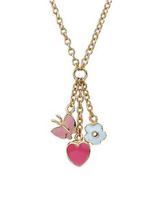 Little Miss Twin Stars 'Charming Treats' 14K Plated Necklace