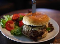 Spicy Welsh Lamb Burger with Blue Cheese and Damson Chutney - A recipe for National Burger Day