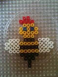 Zoem van strijkkralen van veilig leren lezen Hama Beads Patterns, Beading Patterns, Busy Boxes, Diy And Crafts, Scrabble, Adhd, Ideas, Beekeeping, Hama Beads