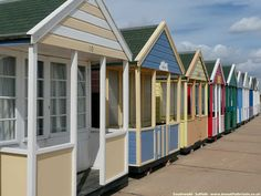 Beach huts at Southwold. I want one in my garden, to write in and pretend I'm at the seaside.