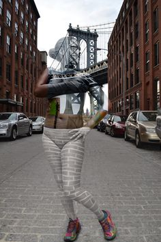 Beautiful New York City Body-Paint Photos Mess With Your Mind #refinery29  http://www.refinery29.com/2014/09/74405/new-york-pictures-camouflage-art-series#slide8  DUMBO/Manhattan Bridge