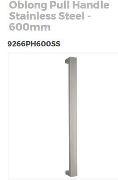 Oblong pull handle - Stainless Steel