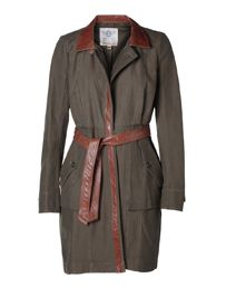Upcycled trench coat by Burning Torch. So epic!