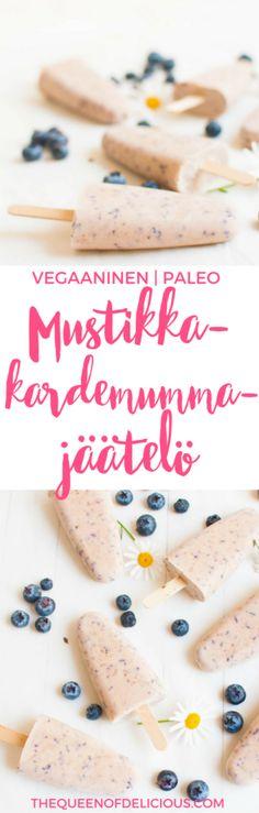 Mustikka-kardemummajäätelö | Vegaaninen Jäätelö | Itse tehty jäätelö | Terveellinen resepti | Sokeriton