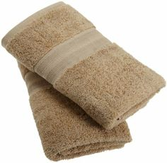 1888 Mills 100-Percent Organic Cotton Oversized Hand Towel Set of 2, Earth Brown #madeinusa