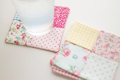 """easy """"patchwork"""" fabric coasters » heartmade life"""