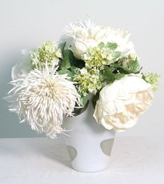 yesss! peonies spider mums and instead of babys breath mustard seed!!    Google Image Result for http://www.ldfsilk.com/products/media/catalog/product/cache/1/image//F/L/FL3018_1.jpg