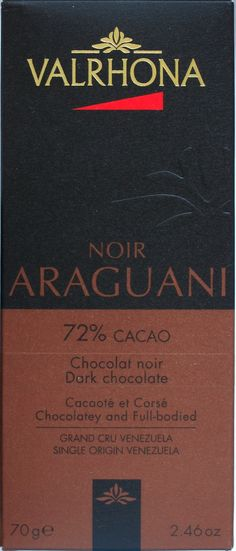 Valrhona Noir Araguani, 72%