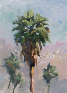 CALIFORNIA PALM TREES by TOM BROWN, painting by artist Tom Brown