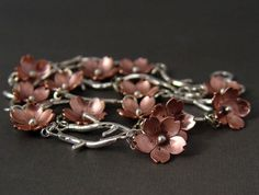 Cherry Blossom Branch Bracelet  Metalsmithing