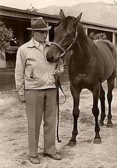 Seabiscuit and his trainer, Tom Smith.