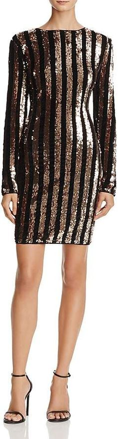 Sunset   Spring Sequin-Stripe Velvet Dress - 100% Exclusive #nightlife  #valentinesdaygiftideas #valentinesday #dress Business Casual Outfits, Dress For Success, After Dark, Sequin Skirt, Dressing, Sequins, Velvet, Nightlife, Spring