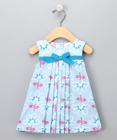 Light Blue Floral Pleated Dress - Toddler; So adorable