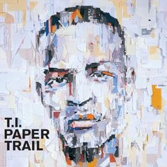 T.I. by Ian Wright (paper collage portrait) Collage Portrait, Portraits, Collage Art, Newspaper Collage, Face Collage, Oil Portrait, Portrait Paintings, Rap Album Covers, Greatest Album Covers