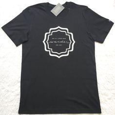 Wander UNISEX slogan Tshirt typography logo by JunkboxCouture