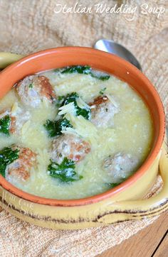 Italian Wedding Soup with Turkey Meatballs and Orzo from willcookforsmiles.com