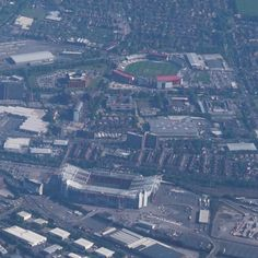 The two #OldTrafford #stadiums of #Manchester bottom the #ManchesterUnited ground and top the #cricket oval. #Aerial #photo taken from the right side of a #Ryanair #flight from Dublin en-route to Leeds. #landscape  #IgersManchester #England #IgersEngland #IgersUK #travel #tourism #tourist #leisure #life #earth #flying #geography #sport #fact #VisitManchester #MUFC #soccer #machesterphotography #IgersMUFC