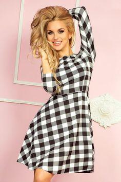 Numoco Globed dress with sleeve - white grille Latest Fashion Trends, Fashion News, Trendy Fashion, Sexy Dresses, Lingerie, Fashion Moda, Sexy Shorts, Madame, Fashion Company