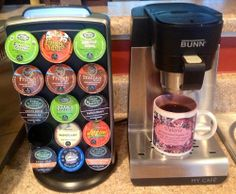 Best coffee machine ever. It takes K-cups, ground coffee, or soft pods & tea bags with interchangeable drawers.