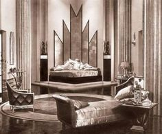 Art deco,  movie set,  bedroom