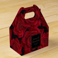 Black Red Wedding, Red Rose Wedding, Burgundy Wedding, Chanel Wedding, Dream Wedding, Black Weddings, Maroon Wedding, Wedding Bells, Wedding Favor Boxes