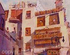 Morning:  Jeddah by Dorothy Boyer Watercolor ~  x