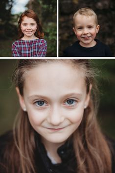 I always take time to capture a simple portrait of each child during a family photo session.