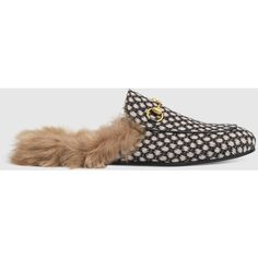 9b765e3222218 Gucci Princetown Dot Jacquard Slipper (8.494.200 IDR) ❤ liked on Polyvore  featuring men s fashion
