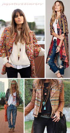 Moda: a polêmica tendência Boho Winter Fashion Outfits, Trendy Fashion, Boho Fashion, Trendy Style, Kimono Fashion, Outfits Hippie, Chic Outfits, Plaid Outfits, Bobo Chic