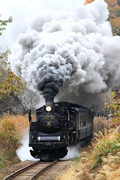 Train Vacations, Old Steam Train, Train Art, Japanese Landscape, Old Trains, Train Pictures, City Aesthetic, Train Journey, Steam Engine