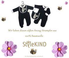 """Wir lieben diesen super süßen Anzug-Strampler aus 100% Baumwolle 😍😍😍😍 Natürlich bei uns erhältlich 💕 www.stylekind.at 💕 Zu finden unter den Rubriken 🍼 """"Was ist neu"""" 🍼 """"Baby"""" oder """"Marken / Sheldon International""""🍼 😊😍😊😍 Wir wünschen einen wunderschönen Montag Abend. Euer StyleKIND-Team Baby, Super, Polyvore, Image, Fashion, Two Piece Outfit, Cotton, Nice Asses, Branding"""