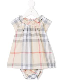 8ed16868318 Burberry Kids Check Cotton Poplin Dress With Bloomers - Farfetch