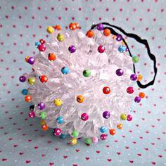 Styrofoam ball, pins & beads