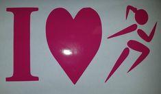 Runner Girl, 'I (Love) 2 Run' Window/Car Decal, you did it! Show it! Your choice of color. #half #5K #car #WindowDecal #marathon #runner #Sticker #ultra #running #magent