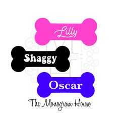 Your Dog's Name in a Dog Bone / Custom Name Decal / Dog Mom / Yeti, Bison, RTIC, Ozark Trail, SIC, Car, Window, Jeep, Cute, Laptop, Decal by TheMonogramHouse on Etsy