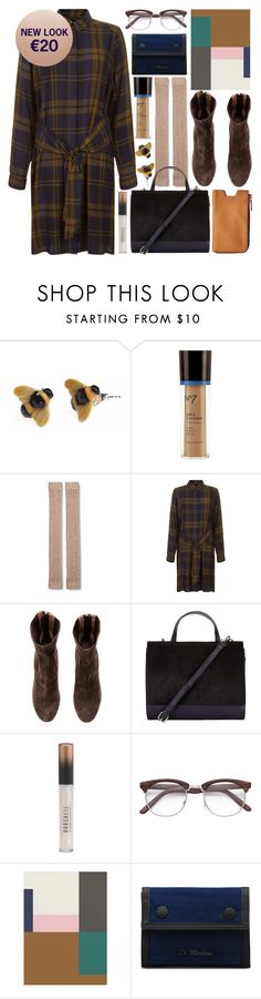 """""""don't have to be rich"""" by foundlostme ❤ liked on Polyvore featuring And Mary, Boots No7, Merona, H&M, John Lewis, Dr. Martens, House Doctor and under100"""