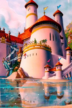 Prince Eric's seaside castle. Not really a good choice defensively speaking.