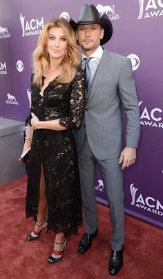 Faith Hill and Tim McGraw at the Academy of Country Music Awards 2013