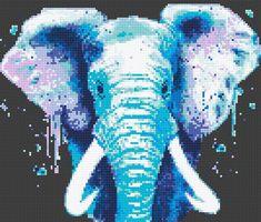 Éléphant de croix modèle de point cadeau danniversaire