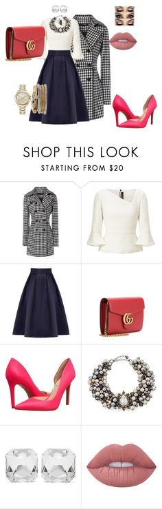 """""""casual date"""" by maryemmanuel on Polyvore featuring Jane Norman, Roland Mouret, Coast, Gucci, Jessica Simpson, Lydell NYC, Kenneth Jay Lane, Lime Crime and Jessica Carlyle"""