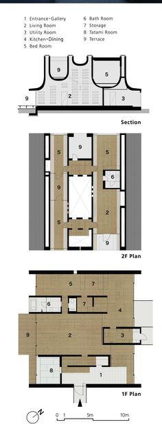 JuuL House / NKS Architects | Floor Plan & Section home for a musician and home as musical performance space