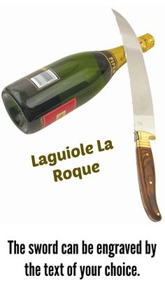 #LaguioleLaRoque is the best #champagnesabre for sabrage. It is affordable #champagnesword and has the clean and simple design of a classic champagne sword.  #sabrage #saberingchampagne