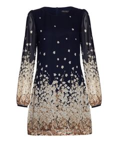 Love this Navy Floral Shift Dress on #zulily! #zulilyfinds