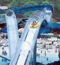 uphill water coaster at Schlitterbahn in New Braunfels, Texas. I want to go!