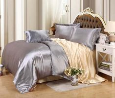 New arrival Hot sale Faux Silk feel Brand Printed Bedding set Duvet cover set Twin &Queen &King size Silver King Size Duvet Covers, Duvet Bedding Sets, Duvet Cover Sets, Aqua Blue, Where To Buy Bedding, Bed Sets For Sale, Satin Bedding, Luxury Duvet Covers, Luxury Bedding Collections