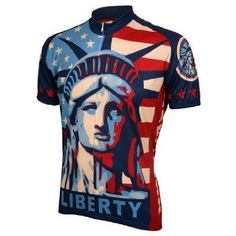 Statue of Liberty Cycling Jersey by World Jerseys Men s Short Sleeve with  Socks ff9b20300