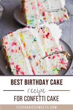Confetti Birthday Cake Recipe, Confetti Cake Recipes, Best Birthday Cake Recipe, Dessert Cake Recipes, Yummy Treats, Delicious Desserts, Sweet Treats, Yummy Food, Tasty